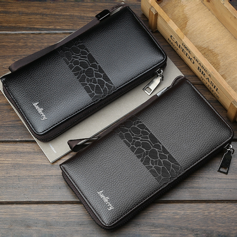 Men 39 s Canvas Clutch Bag Multi Card Retro Youth Long Wallet Large Capacity Mobile Phone Bag in Wallets from Luggage amp Bags