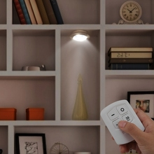 LED Night Light 360 Degree Wireless Remote Control Touch Switch Wall Lamp White