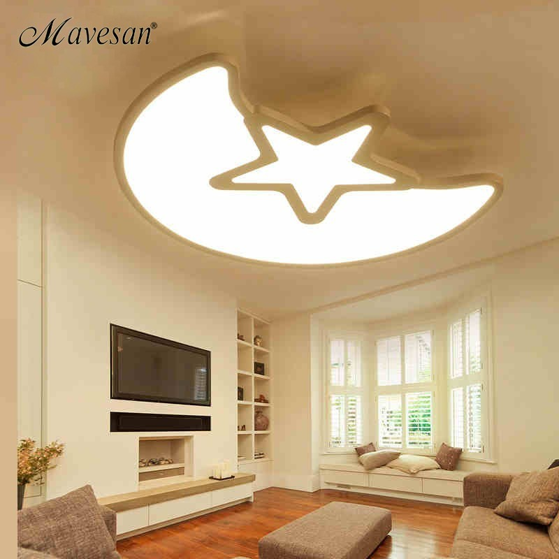 Kids room ceiling lights Acrylic for 10-15square meters bedroom support 110V and 220V Remote control led lamparas de techoKids room ceiling lights Acrylic for 10-15square meters bedroom support 110V and 220V Remote control led lamparas de techo