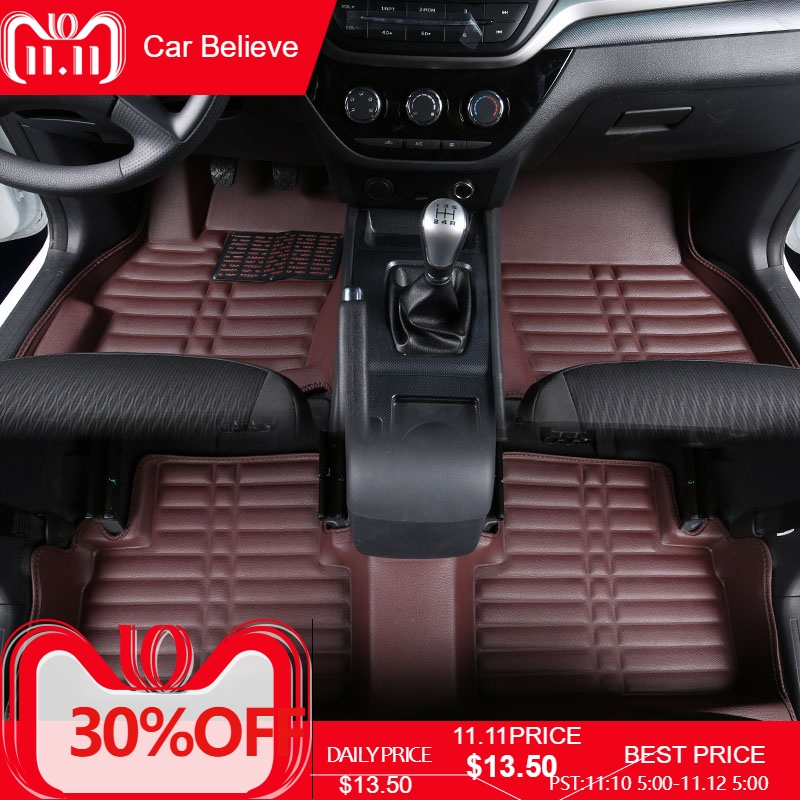 Car Believe Auto car floor Foot mat For jaguar xf 2016 2008 x-type F-type xj xe xk xjl waterproof accessories carpet full covered durable carpets special car floor mats for jaguar xel xfl xe xf xj xjl f pace f type xk x type s type most models