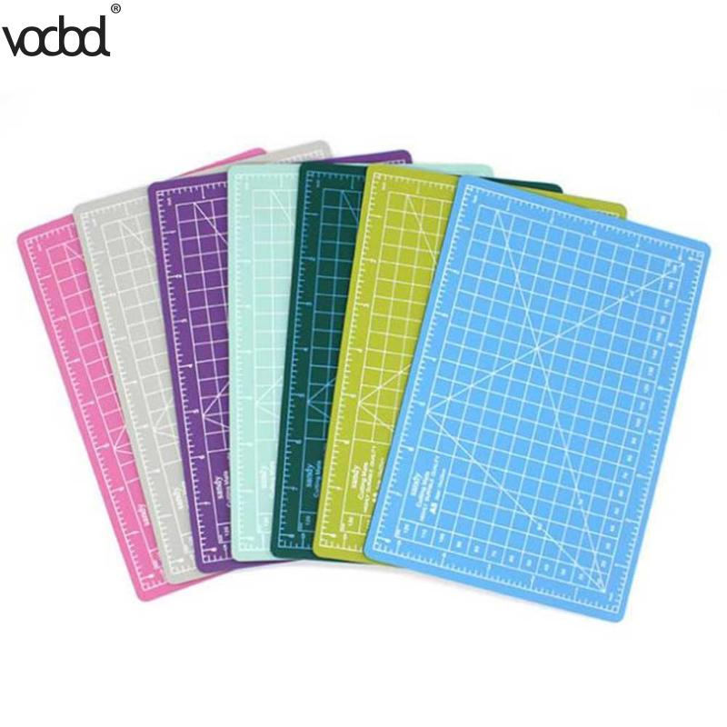 VODOOL A5 Cutting Mats Size Persistent PVC Material Self-healing 15x22cm Cutting Pad For Office And School Cutting Cutting Blue