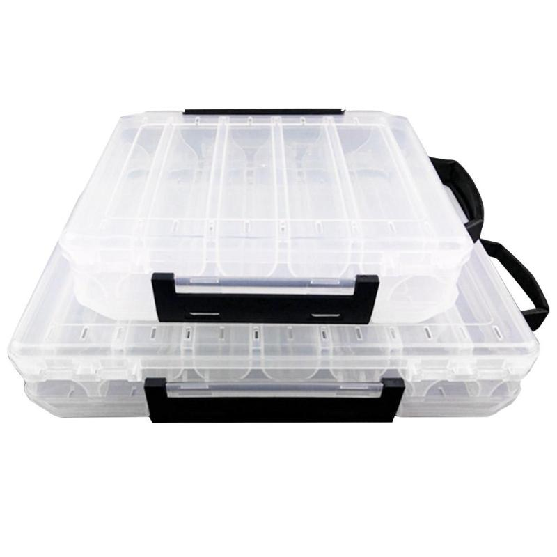 Fishing Tool Tackle Sorting Box for Fishing Double Sided Fishing Tackle Box Plastic Fishing Lure Bait Hook Storage Case