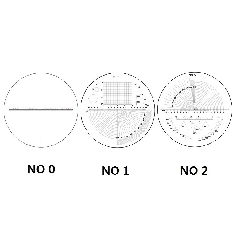 Diameter 35 mm Magnifier Micrometer Reticle Scale X 20 mm 30 mm for Magnifying Glass Microscope Scale Ruler in Microscope Parts Accessories from Tools