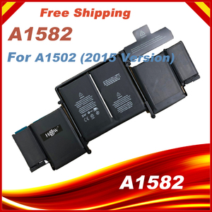 """74.9Wh 11.42V A1582 Battery For Apple Macbook Pro 13"""" Inch Retina A1502 2015 Year ME864 ME865 6559mAh(China)"""