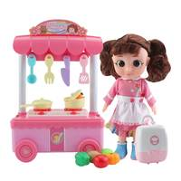 Kids Kitchen Toys Pretend Play Cooking Food Toys Dolls Tableware Sets Baby Cooking Simulation Model Happy Pretend Play Toys