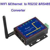Wifi&Ethernet To RS232&RS485 to Serial device Server Ethernet Converter Module Support TCP/UDP/IP P2P