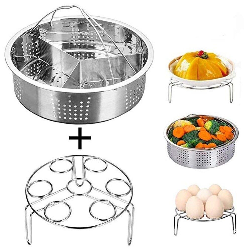 Steamer Rack Set  For Instant Pot,Steamer Basket,Egg Steamer Rack,Non-stick Springform Pan,Dish-Clip,Pressure Cooker Accessories