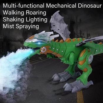 Электрический динозавры модель игрушечные лошадки прогулки спрей динозавр робот со светом Звук качели Моделирование игрушка