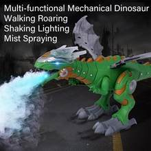 Electric Dinosaurs Model Toys Walking Spray Dinosaur Robot With Light Sound Swing Simulation Dinosaur Toy For Boy Gift(China)