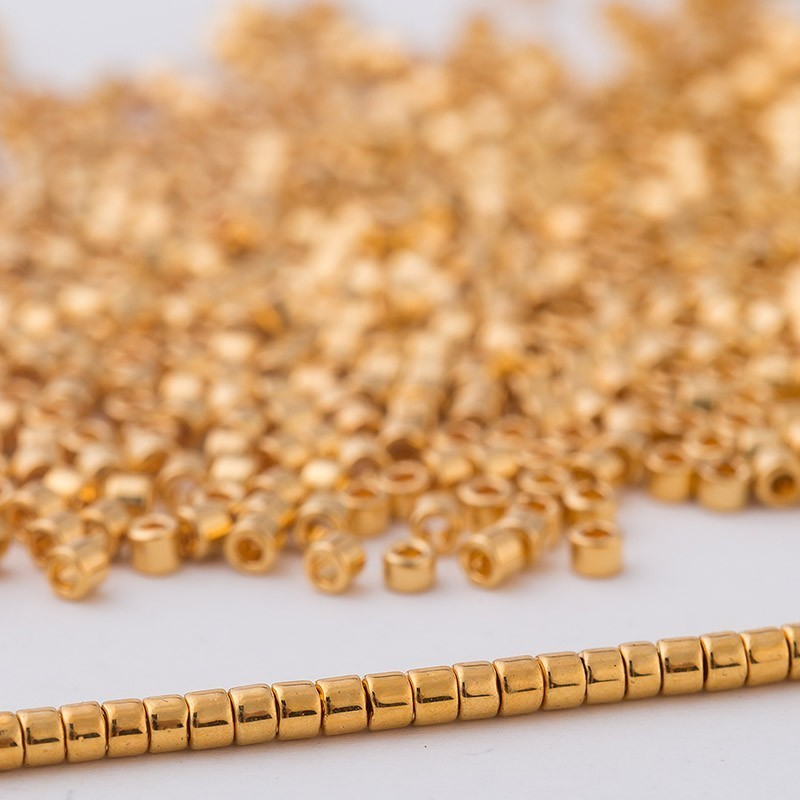 Beads Beads & Jewelry Making Rational Abay Gold Matellic Plated Miyuki Delica Seed Beads For Native American Jewelry Making 11/0 1.6x1.3mm 3g/bag About 600pieces Factories And Mines