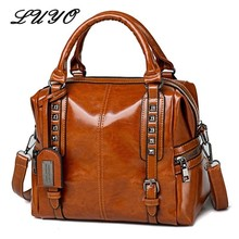 купить New Vintage Genuine Leather Oil Wax Luxury Handbags Women Bags Designer Modis Shoulder Messenger Bag Famous Brand Neutral Female по цене 1251.29 рублей