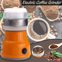 Portable Auto-manual Coffee grinder Machine EU Plug 220V Home Kitchen Salt Pepper Mill Spice Nuts Electric Coffee Grinder(China)