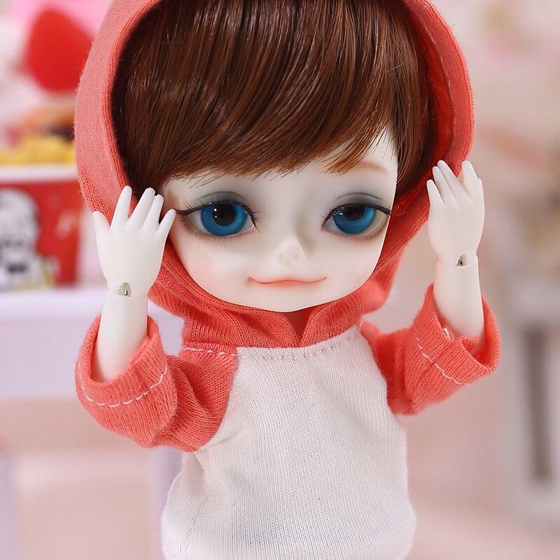Muñeca con pooky 1/8 BJD SD de alta calidad Linda muñeca de juguete-in Muñecas from Juguetes y pasatiempos    1