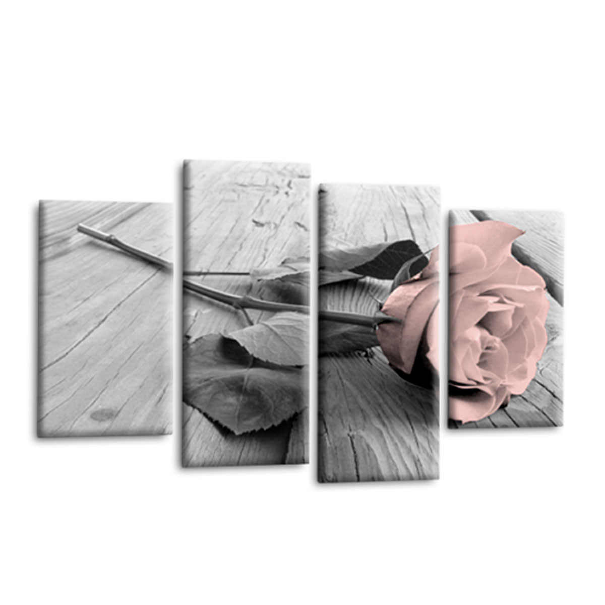 Rose Fl Canvas Wall Art Picture