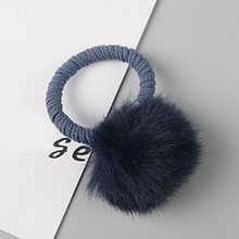Girls Hair Accessories Colorful Pompon Elastic Bands Rings Cute Creative Fur Ball Rope Lovely Rubber Scrunchies
