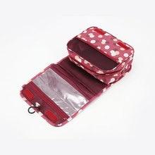 Waterproof Portable Polyester Travel Cosmetic Bag Neceser Hanging Wash Bag Neutral  Make Up Bag Organizer Bathroom Wash Bag