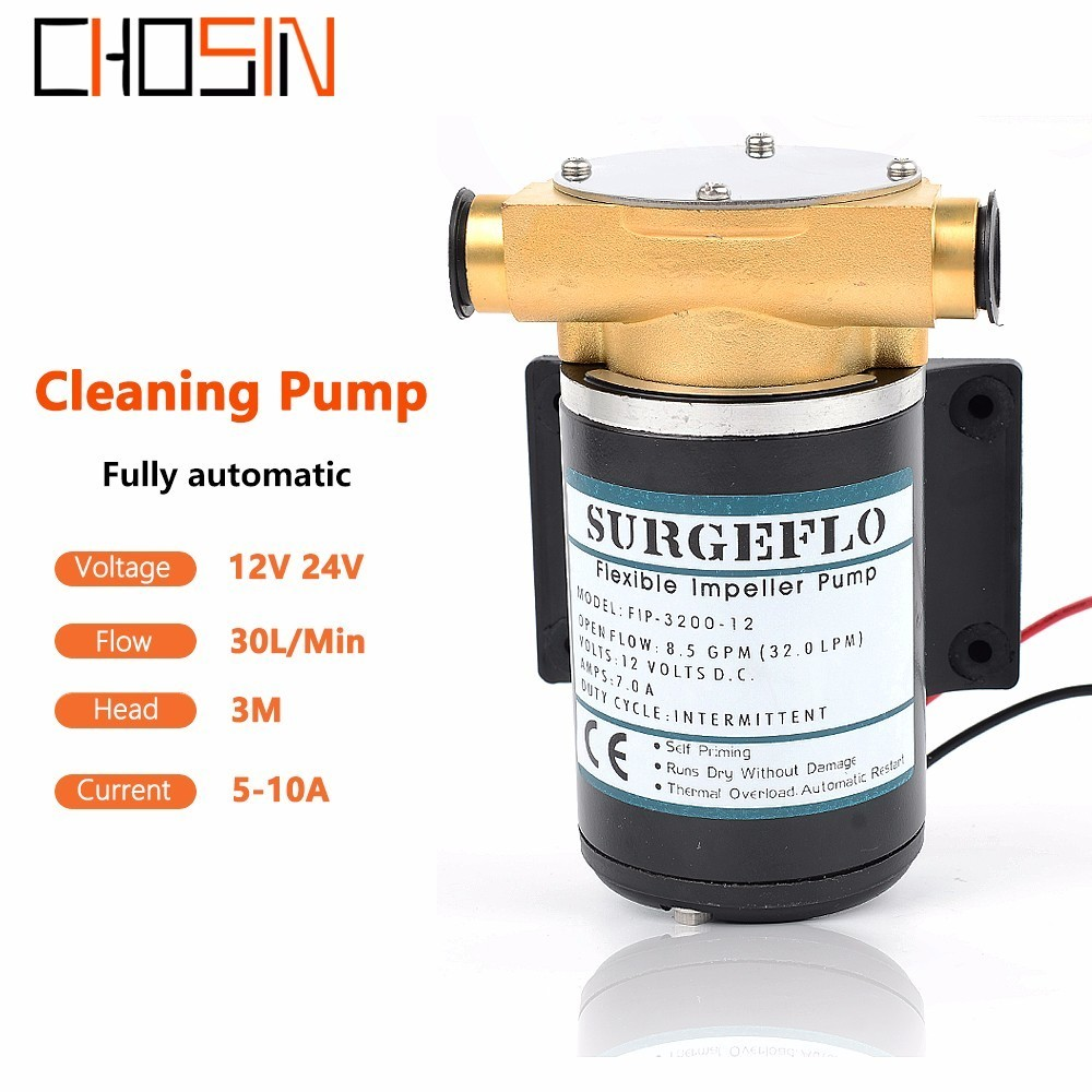 Fip-3200 30l/min 12v 24v Automatic Electric Surface Centrifugal Pump Deck Wash Engine Cooling Pump Flexible Impeller Pump
