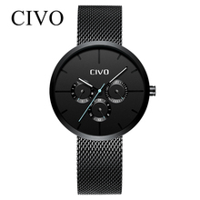 CIVO Mens Watches Waterproof Date Business Quartz Wrist Watch Gents Casual Male Women Clock Relogio Masculino все цены