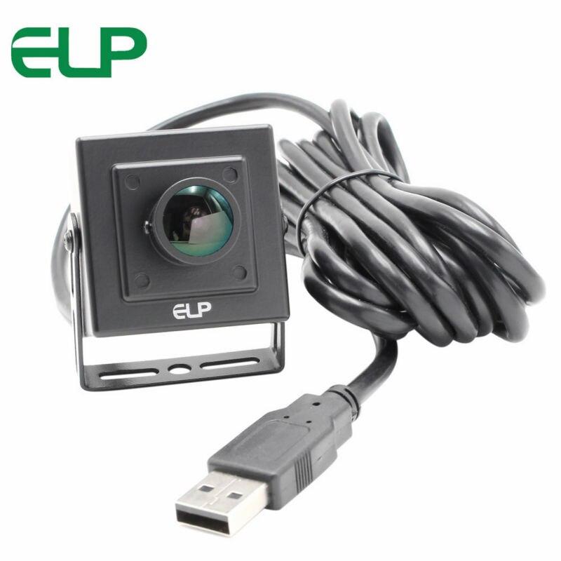 ELP MJPEG 260fps 640X360 Fisheye USB Industrial camera MJPEG 60fps 1080P CMOS OV4689 Wide angle View Camera Module стоимость