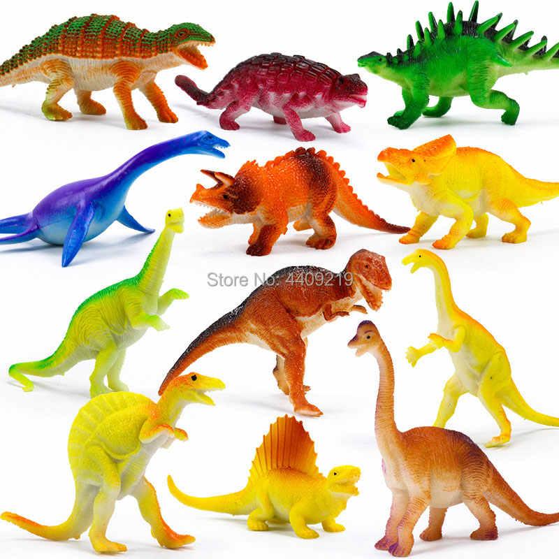 21 stili di Azione e di Toy Figure Modello Brachiosaurus Plesiosaur Tirannosauro Drago Dinosauro Collezione Raccolta Degli Animali Giocattoli di Modello