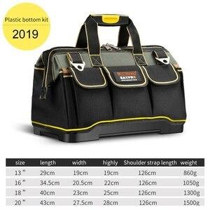 Image 3 - 多機能ツールバッグ防水 13 16 18 20 インチ電気技師プロフェッショナルオックスフォード布バッグ大容量キット