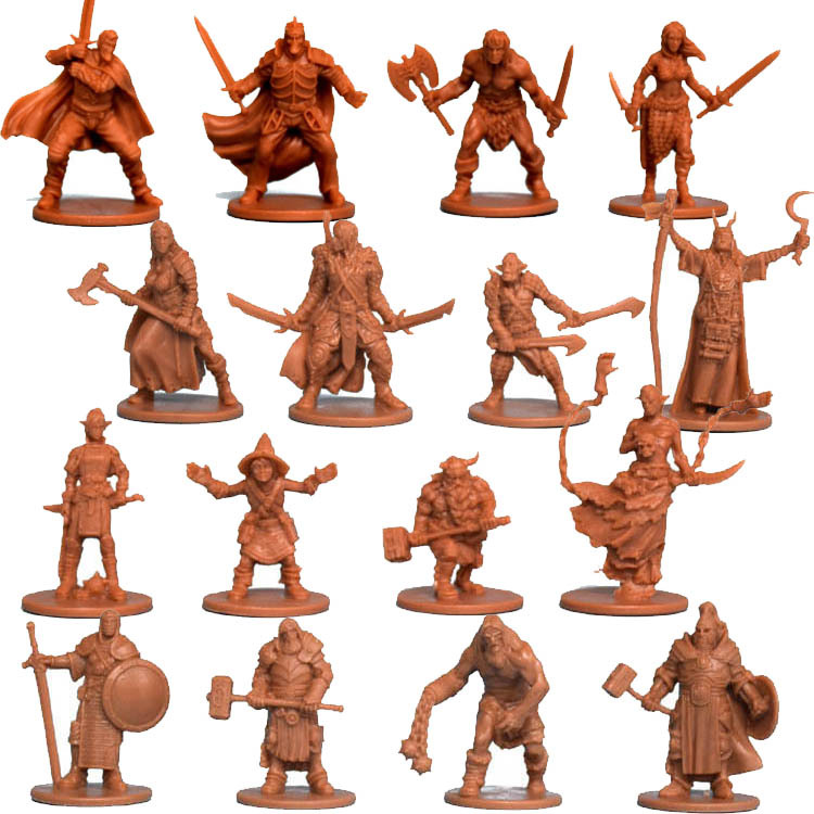 Die Casting Resin Board Role-playing Games Model Endless Slaughter Zombicide Black Death Game Night Kit Hero Extend Package