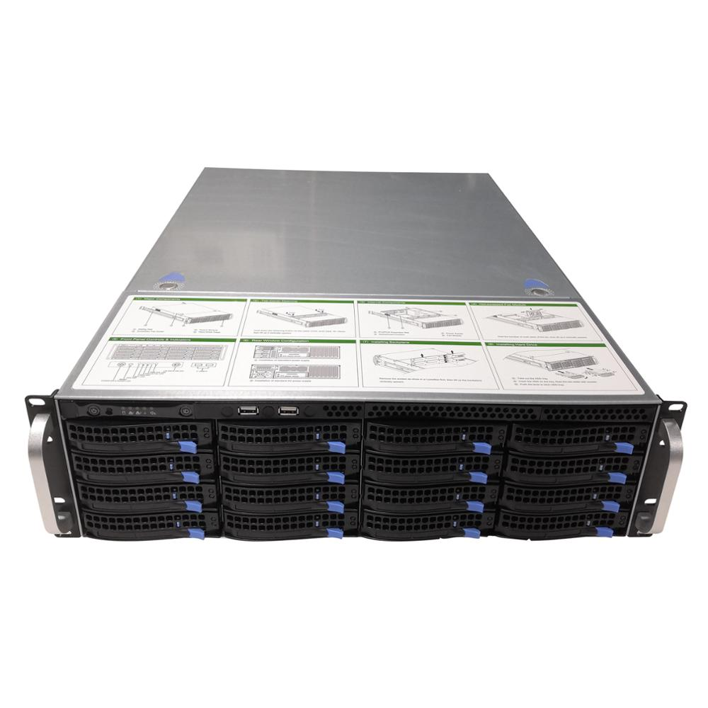 high quality 3U rack-mount hot-swap chassis 19 inches 16 drive bays storage server S365-16 6GB MINI SAS 6GB expand backplane