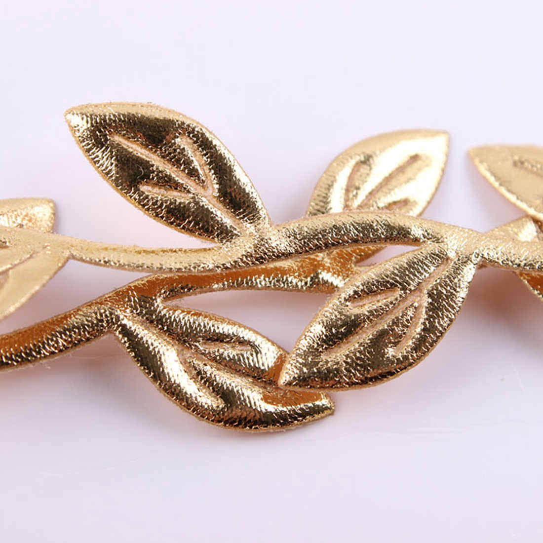 Mommy & Baby Matching Leaf Headbands Hairband Set Gold Silver Mom Baby Shower Gift