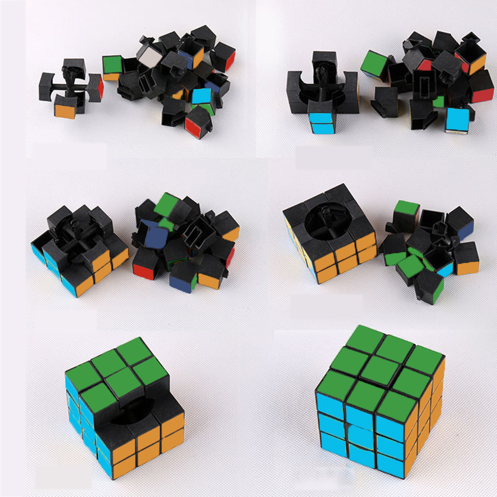 Mini Funny Magic Cube Rubics Game Puzzle Reduced Pressure Key Ring Key Chain
