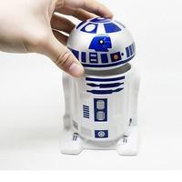 Star Wars Series 3D R2 D2 Robot Cups And Mugs With Lid Zakka Mok Office Home Tea Coffee Cup Fans Souvenir Children Friend Gift