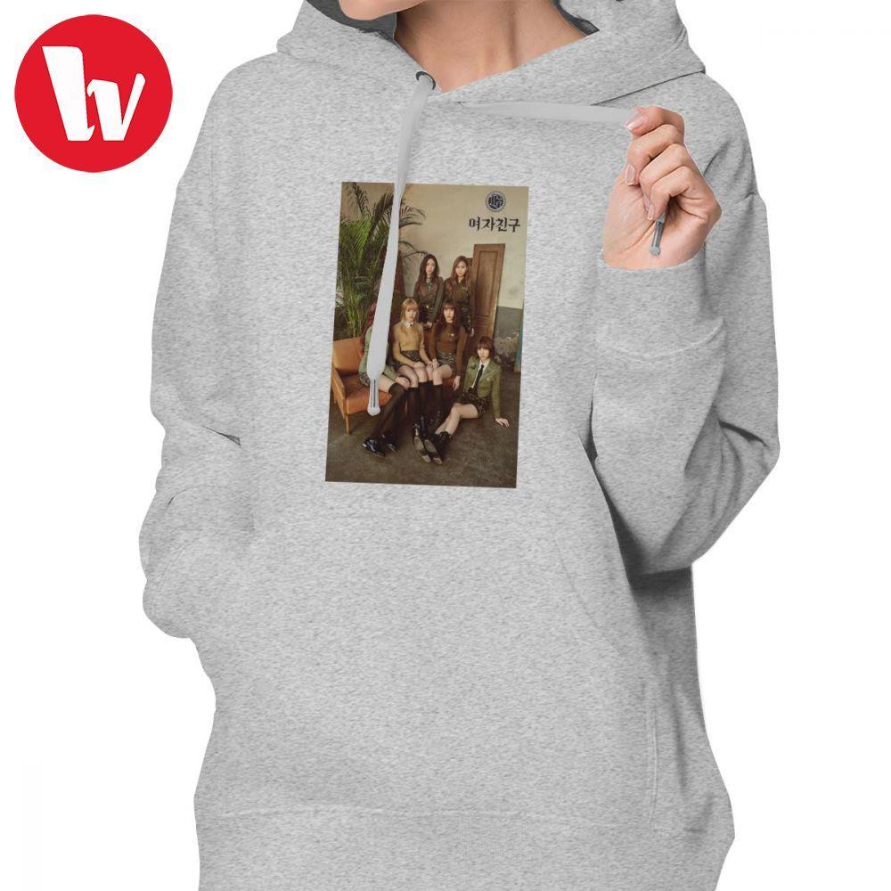 Gfriend Kpop Hoodie Gfriend-de Ontwaken Hoodies Sexy Street Wear Hoodies Vrouwen Katoen Lange Mouwen Xl Zwarte Trui Hoodie Straatprijs