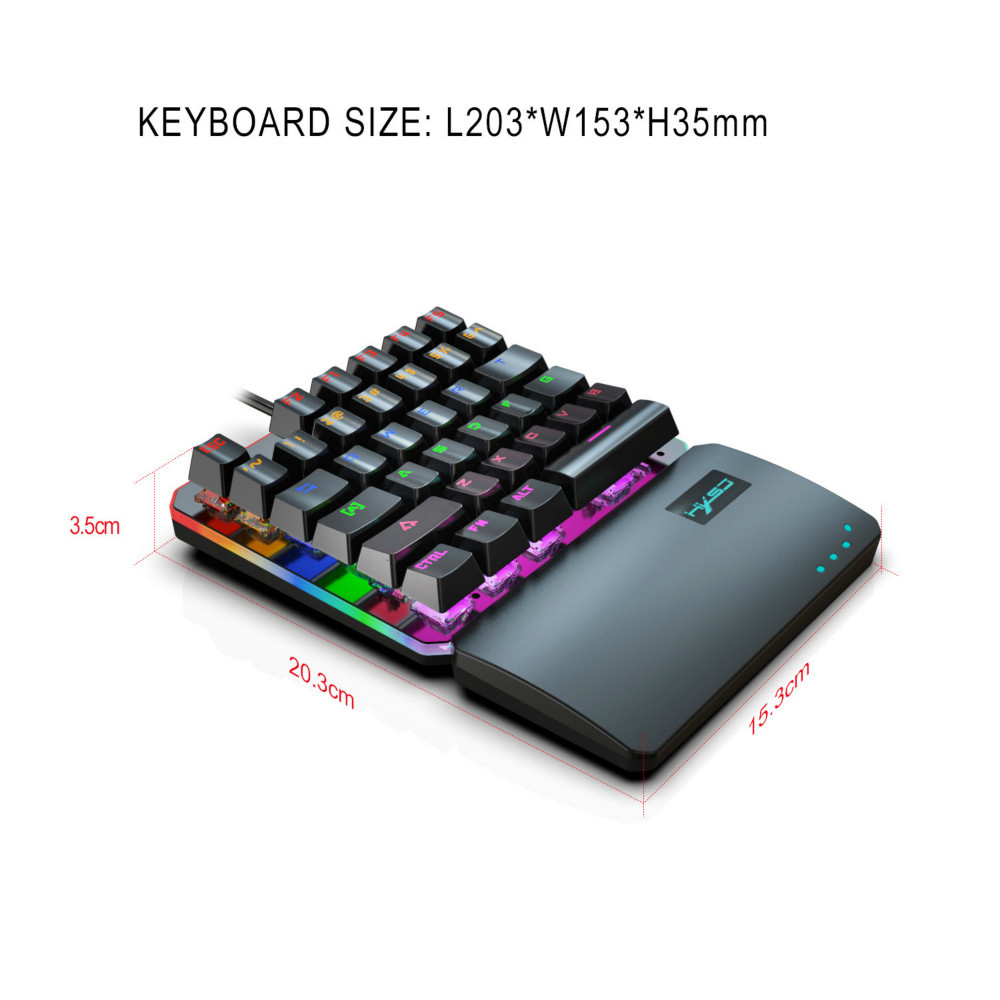 Image 3 - Mechanical Keyboard Standard Mini Wired Gaming RGB Backlit Key Board For Clavier Gamer Teclado Gamer 35 key USB Interface-in Keyboards from Computer & Office