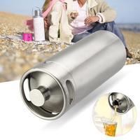 Household 4L Mini Stainless Steel Beer Keg Pressurized Growler for Craft Beer Dispenser System Home Brew Beer Brewing Tool