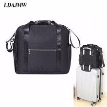 LDAJMW Waterproof Large Capacity luggage Packing Tote/Shoulder Travel Big Bag Folding Clothes Storage Pouch Organizer