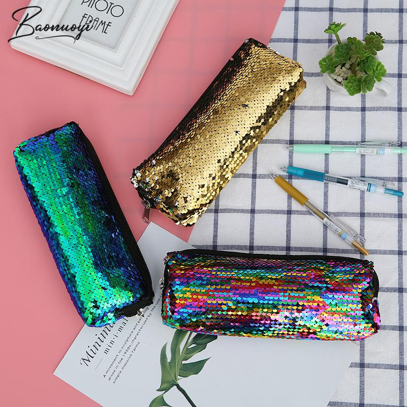 Reversible Sequin Pencil Cases For Girls And Boys School Pencil Bag Pencil Box Pencilcase Pencil Case School Stationery Supplies