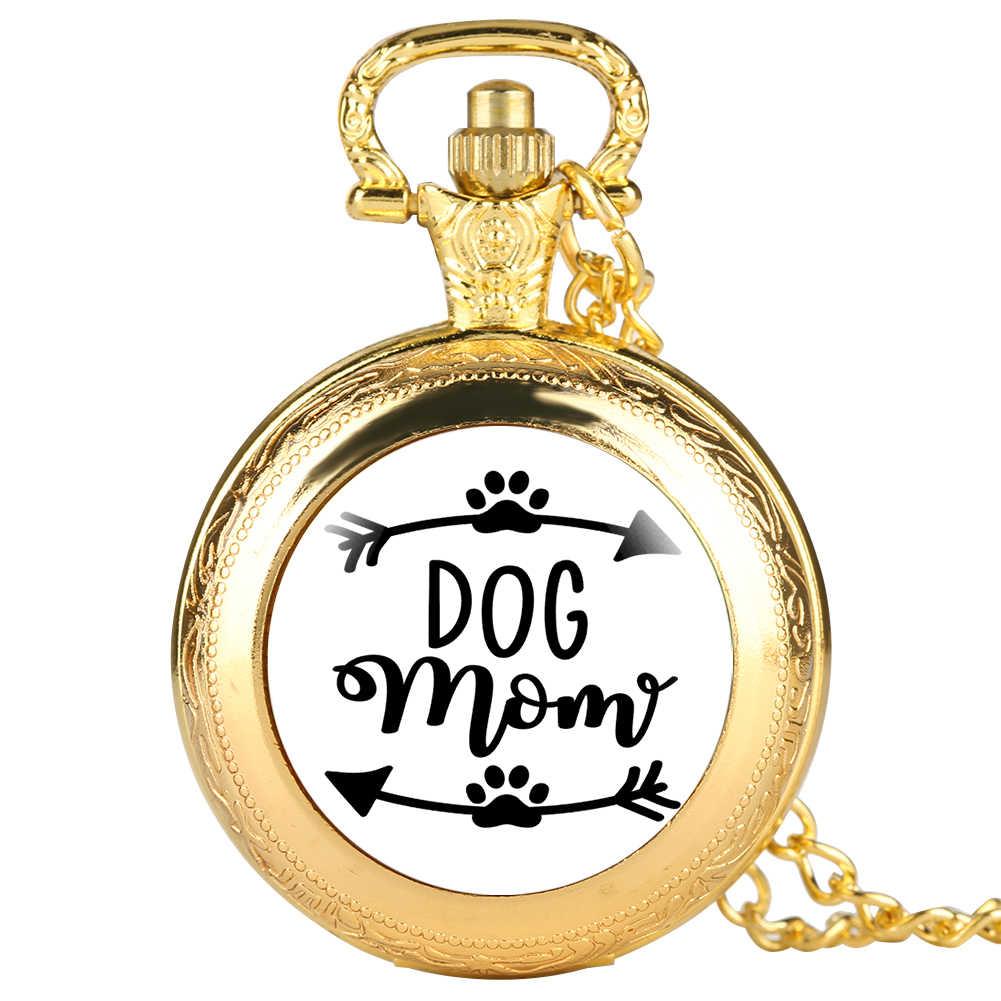 Kiểu dáng thời trang Chó Mẹ Dòng Đồng Hồ Bỏ Túi cho Nữ Retro Đồng Hồ cho Mẹ Hưu thạch anh Dây dành cho Nữ