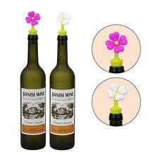Силиконовый герметик для бутылок вина в форме цветов, барные пробки для вина, пива, шампанского