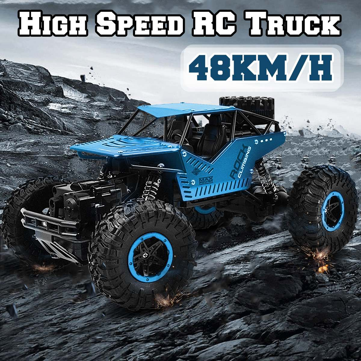 1:16 48KM/H Climbing RC Truck 4WD Off-Road Vehicle 2.4GHz Remote Control Car Toy1:16 48KM/H Climbing RC Truck 4WD Off-Road Vehicle 2.4GHz Remote Control Car Toy