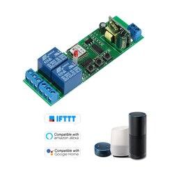 Умный Wifi переключатель модуль 2CH AC85-250V Универсальный беспроводной переключатель таймер приложение дистанционное управление Голосовое упр...