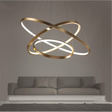 Fashional Dinning Room Modern Chandeliers Circle Rings Led Chandelier Light For Indoor Lighting AC 85-260V 40CM 60CM 80CM 100CM(China)