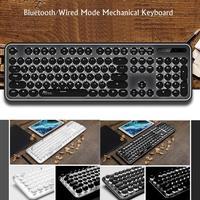 Punk Style Bluetooth Mechanical Phone Tablet Eat 104 keys 200mA Chicken 2.00.6mm Game USB+Bluetooth Keyboard
