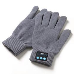 V4.2 bezprzewodowy rękawiczki Bluetooth zestaw słuchawkowy muzyki z dzianiny dotykowy rękawice do ekranu para 75g w Rękawice do ekranów dotykowych od Komputer i biuro na