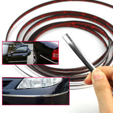3M 7mm Chrome Silver Car Chrome Body Strip Bumper Auto Door Protective Dashboard Edge Universal Moulding