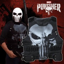 The Punisher Season 1 Costume Man Cosplay Superhero Leather Halloween Adult Men Only Vest Custom Made Accessories