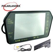 Tf usb nadajnik bluetooth fm MP5 7 cal kolorowy wyświetlacz TFT LCD o przekątnej 1024x600 cofania samochodu monitor lustrzany monitor do parkowania cofania priorytet