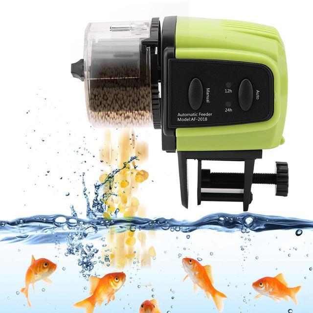 Alimentador automático de alimentos para peces de acuario caliente alimentador automático de temporizador de peces Mini dispensador de alimentos para peces