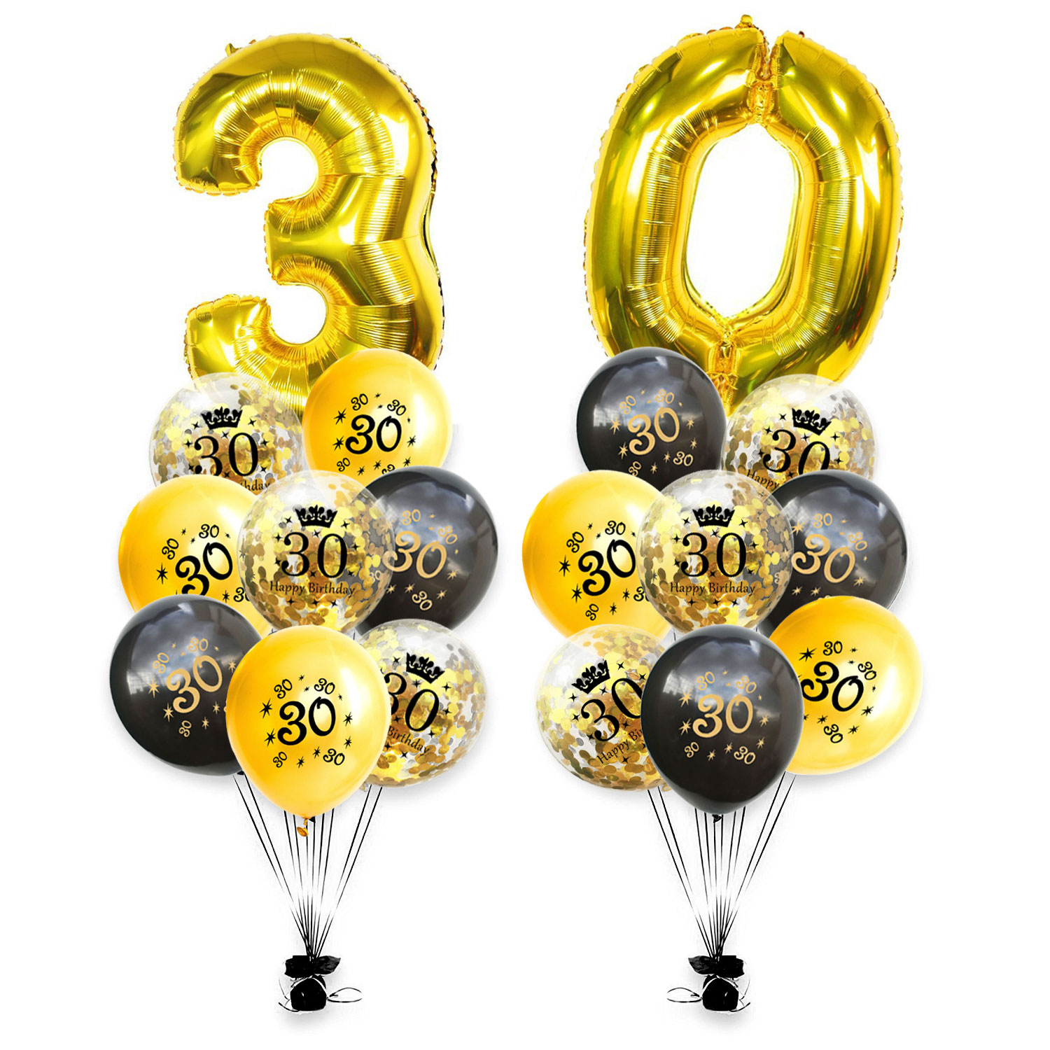 Happy 30th Birthday Party Balloons Banners /& Decorations AGE 30