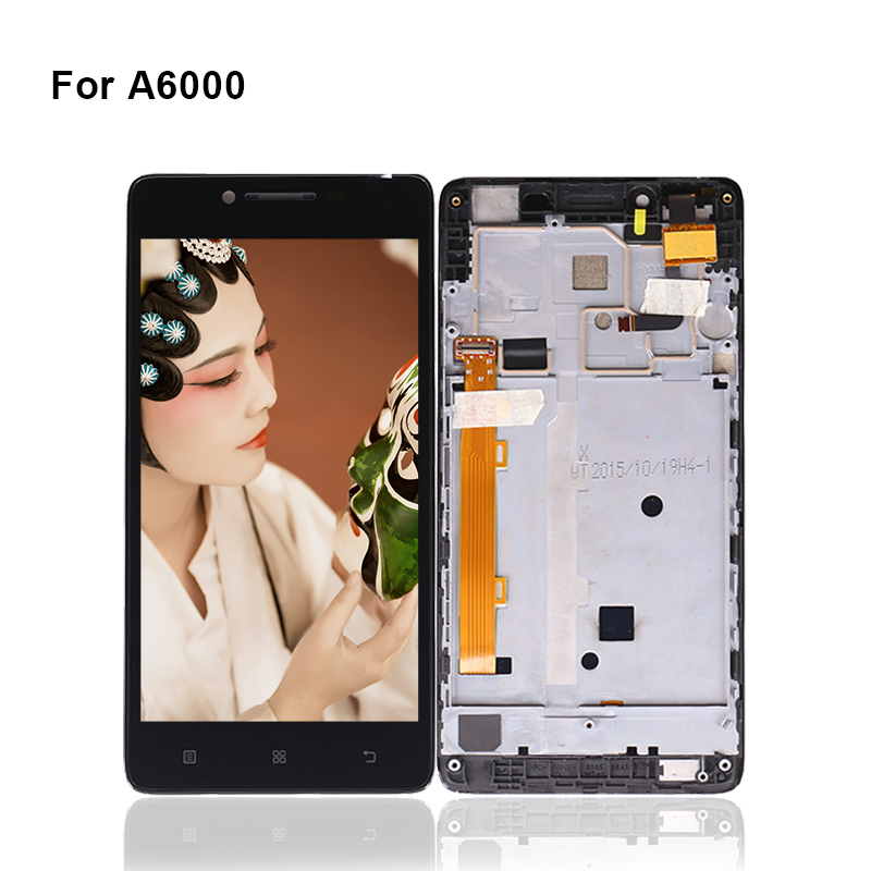 10pcs/lots For Lenovo A6000 LCD Display Touch Screen Digitizer Assembly With Frame For Lenovo A6000 Display Screen Touch LCD