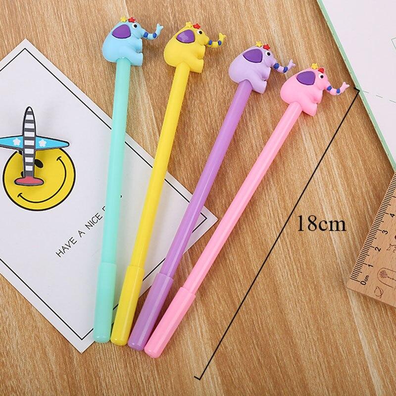 Gel Pens 4pcs Novetly Cartoon Dinosaur Gel Pen 0.5mm Cute Pens Neutral Pens For Kids Girls Gift Writing School Supplies Office Stationery
