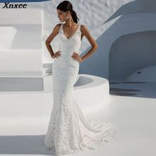 Xnxee New Sexy Lace White Solid V-Neck Long Dress Summer Women Fashion Vestido De Fiesta Party Dresses 2019 Vestidos